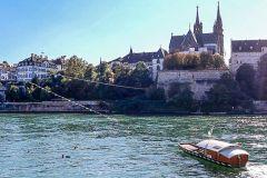 Seilfähre von Kleinbasel nach Basel