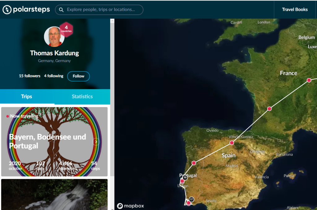 Polarsteps Screenshot