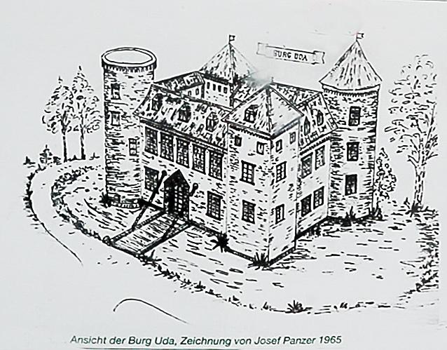 Skizze Burg Uda