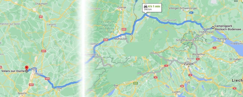 Karte nach Velars